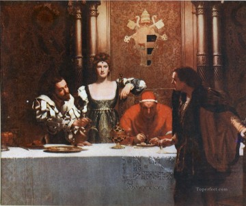 wine painting - A Glass of Wine with Caesar Borgia John Collier Pre Raphaelite Orientalist