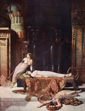 the death of cleopatra 1910 John Collier Pre Raphaelite Orientalist Oil Paintings