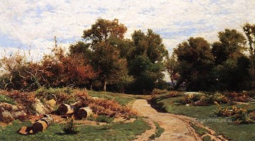 scenery Art Painting - A Country Path in Summer scenery Hugh Bolton Jones