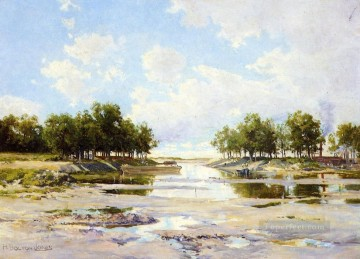 Inlet at Low Tide scenery Hugh Bolton Jones Oil Paintings