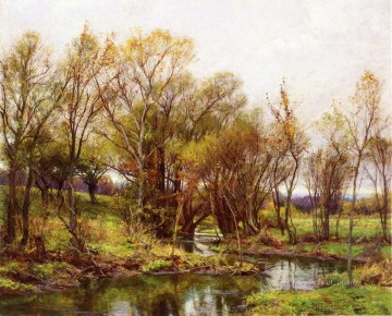 scenery Art Painting - The Brook Morning scenery Hugh Bolton Jones