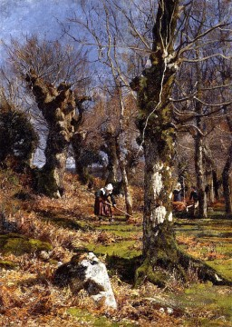 scenery Art Painting - Gathering Leaves scenery Hugh Bolton Jones