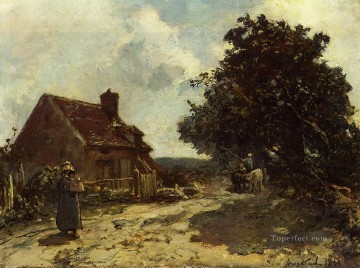 Johan Jongkind Painting - In the Vicinity of Nevers Johan Barthold Jongkind