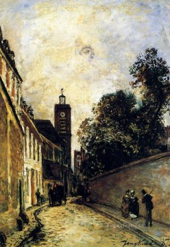Rue De L Abbe De L Epee And The Church Of Saint James Johan Barthold Jongkind Oil Paintings