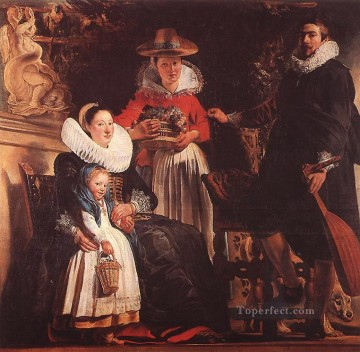 Family Painting - The Family of the Artist Flemish Baroque Jacob Jordaens
