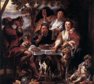 baroque - Eating Man Flemish Baroque Jacob Jordaens