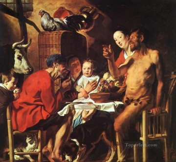 baroque - Satyr at the Peasants House Flemish Baroque Jacob Jordaens
