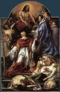 baroque - St Charles Cares for the Plague Victims of Milan Flemish Baroque Jacob Jordaens