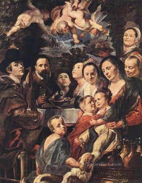 baroque Painting - Self Portrait among Parents Brothers and Sisters Flemish Baroque Jacob Jordaens