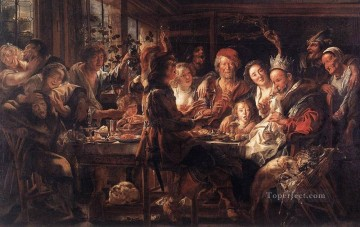 baroque Painting - The Bean King2 Flemish Baroque Jacob Jordaens