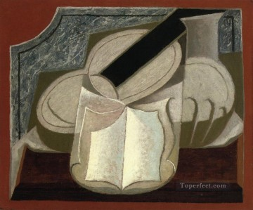 Juan Gris Painting - book and guitar 1925 Juan Gris