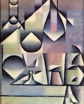 bottle and pitcher Juan Gris Oil Paintings