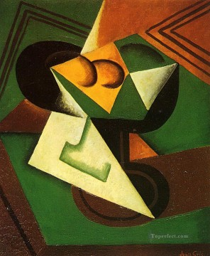 fruit bowl and fruit Juan Gris Oil Paintings