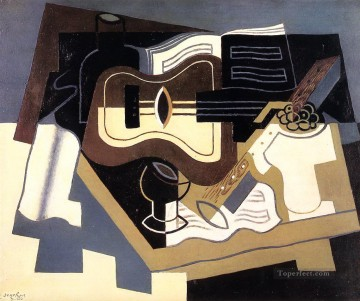 guitar and clarinet 1920 Juan Gris Oil Paintings
