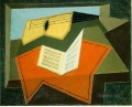 guitar and music paper 1927 Juan Gris
