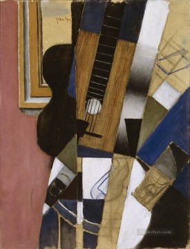 guitar and pipe 1913 Juan Gris Oil Paintings