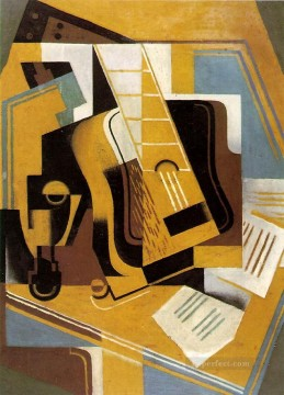 photograph of the guitar 1918 Juan Gris Oil Paintings