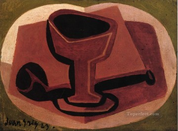 Juan Gris Painting - pipe and glass 1923 Juan Gris