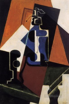 seltzer bottle and glass 1917 Juan Gris Oil Paintings
