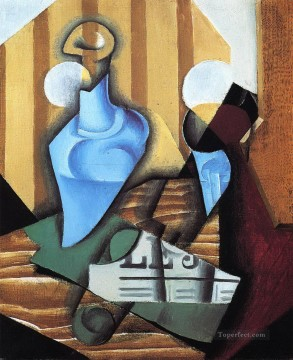 still life with bottle and glass 1914 Juan Gris Oil Paintings