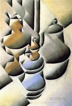 Juan Gris Painting - still life with oil lamp 1912 Juan Gris