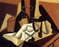 still life with white tablecloth 1916 Juan Gris