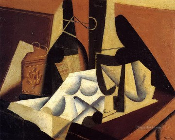 still life with white tablecloth 1916 Juan Gris Oil Paintings