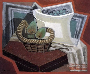 pears Oil Painting - the basket of pears 1925 Juan Gris