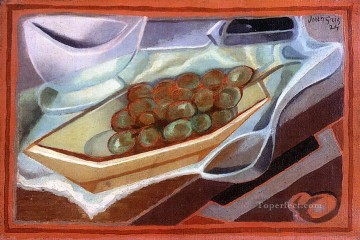 the bunch of grapes 1924 Juan Gris Oil Paintings