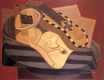 the guitar with inlay 1925 Juan Gris Oil Paintings
