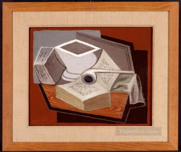 the open book 1925 Juan Gris Oil Paintings