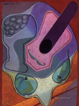 Juan Gris Painting - violin with fruit 1924 Juan Gris