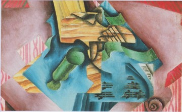 violine and glass 1913 Juan Gris Oil Paintings