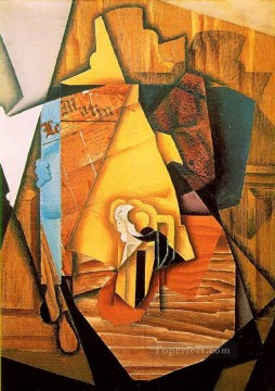 a man in a cafe 1914 Juan Gris Oil Paintings