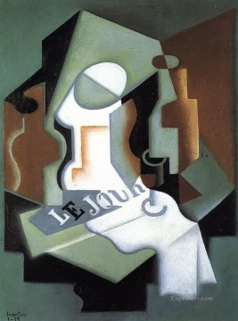 bottle and fruit dish Juan Gris Oil Paintings