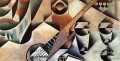 guitar and glasses banjo and glasses 1912 Juan Gris