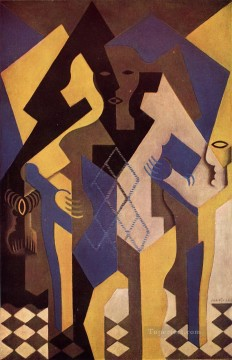Juan Gris Painting - harlequin at a table 1919 Juan Gris