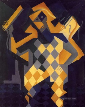 Juan Gris Painting - harlequin with violin Juan Gris