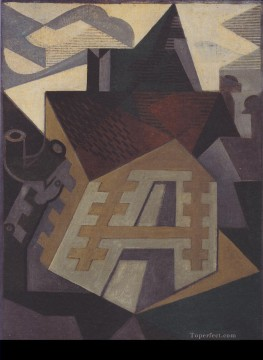 landscape at beaulieu 1918 Juan Gris Oil Paintings