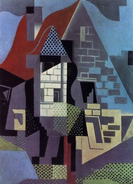 landscape Painting - landscape at beaulieu Juan Gris