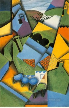 landscape Painting - landscape with house at ceret 1913 Juan Gris