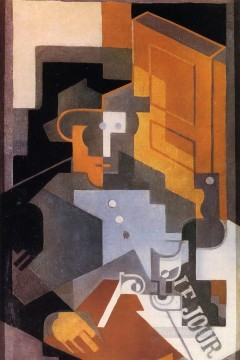 Juan Gris Painting - man from touraine 1918 Juan Gris