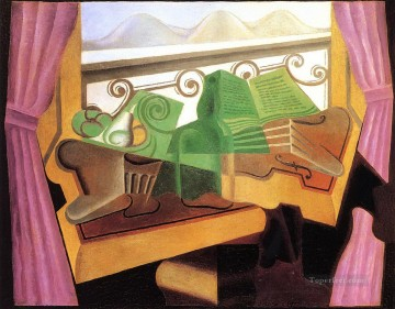 Juan Gris Painting - open window with hills 1923 Juan Gris