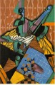 photograph of violin and checkerboard 1913 Juan Gris
