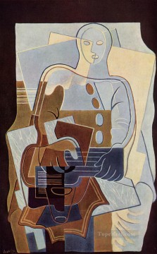pierrot with guitar 1922 Juan Gris Oil Paintings