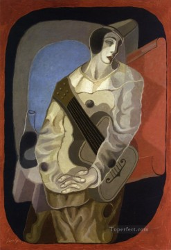 Juan Gris Painting - pierrot with guitar 1925 Juan Gris