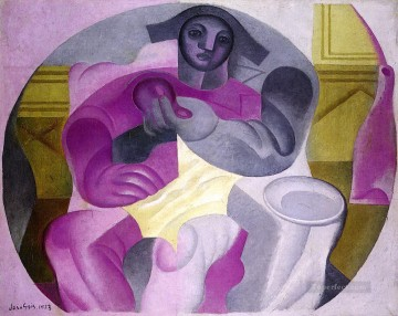 seated harlequin 1923 Juan Gris Oil Paintings