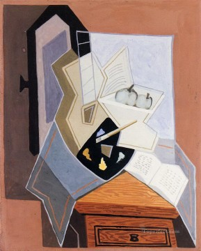 still life at the open windowq 1925 Juan Gris Oil Paintings