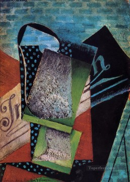 still life dedicated to andre salmon 1915 Juan Gris Oil Paintings
