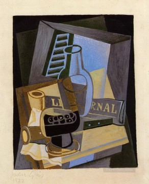 still life in front of the wiindow 1922 Juan Gris Oil Paintings